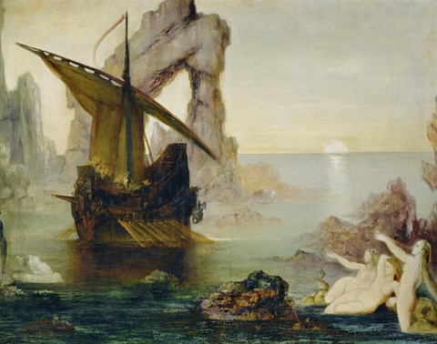 Ulysses And The Sirens 18751880 Fine Art Print by