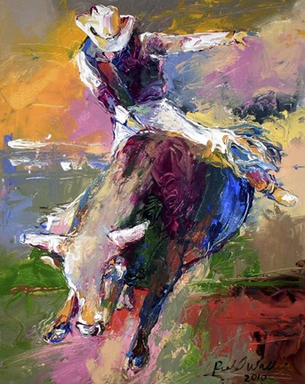 Bull Rider Fine Art Print by Richard Wallich at FulcrumGallerycom