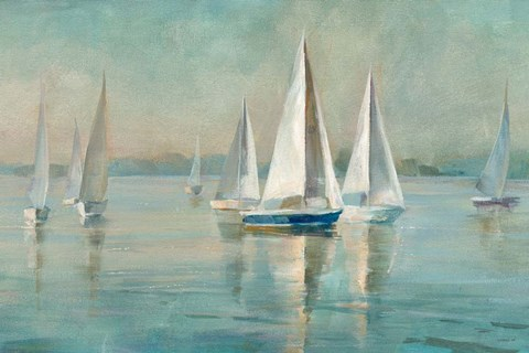 best artwork for living room designs wall units sailboats at sunrise fine art print by danhui nai ...