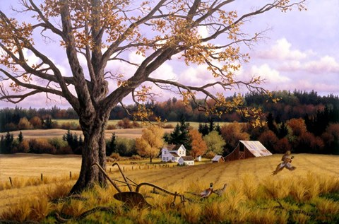 Crisp Fall Day Fine Art Print by Randy Van Beek at