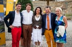 Markus Arnold, Winfried Müller, Birgitt und Walter Arnold sowie Luisa Janich.