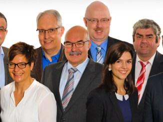 Bild von links: Martin Kreß (Neuhof), Jürgen Auerbach (Rommerz), Kathrin Schleicher (Neuhof), Otto Mahr (Hattenhof), Franz Josef Adam (Neuhof), Reiner Schnell (Giesel), Denise Göller (Dorfborn), Hubert Lauer (Hauswurz), Michael Vogel (Neuhof)