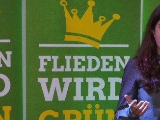 Johanna Gärtner bei der Vorstellung der Grünen Jugend.