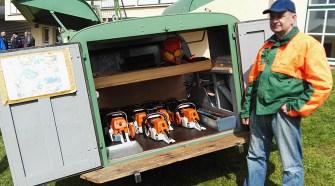 Die Waldbesitzergemeinschaft Sieblos zeigte einen Teil ihrer Ausstattung.