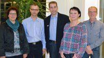 Die neue Truppe der SPD: Gerlinde Hartmann, Marcus Lohfink , Mark Bagus, Carmen Hüttl und Peter Auth. (v.l.)