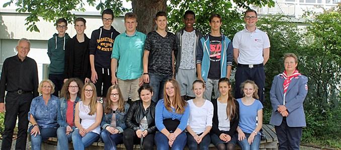 19 neue Schulsanitäter an der Heinrich-von-Bibra-Schule › fuldainfo | {Schulsanitäter ausweis 49}