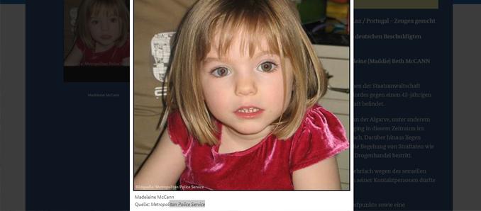 Heiße Spur im Fall Maddie? – Deutscher Sexualstraftäter unter Verdacht