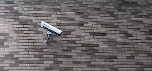 CCTV installed on wall