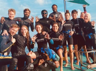 padi dive masters and guests