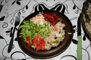 Tuna risotto & salad - colourful AND delicious