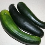 The last courgettes of the season...