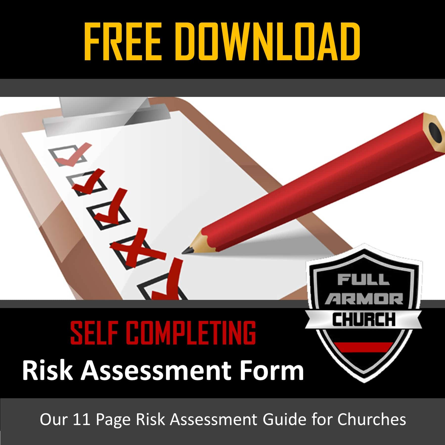 Free Church Risk Assessment Form - Digital Download