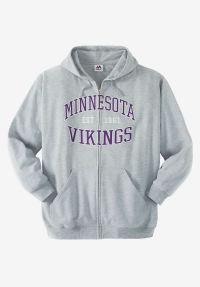 NFL Fleece Full-Zip Hoodie | Plus Size Outerwear | Full ...