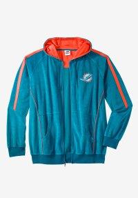 NFL Velour Zip Hoodie | Plus Size Hoodies & Sweatshirts ...