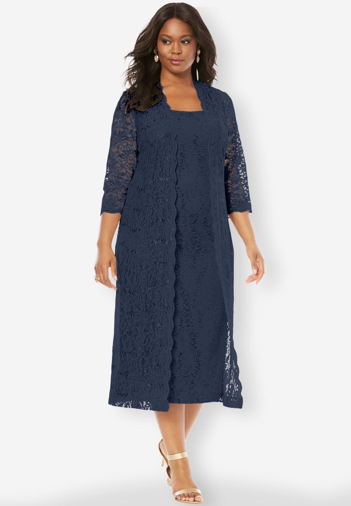 Flyaway Full Length Jacket Dress  Plus Size Special