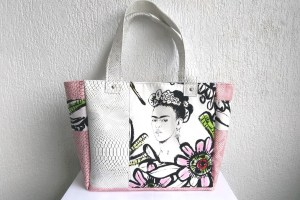 sac cabas frida blanc rose