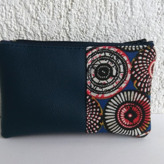 porte monnaie bleu ethnique