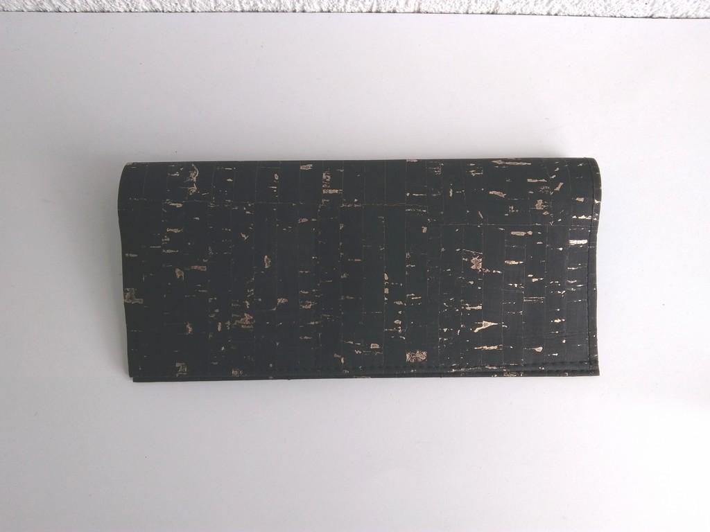 Porte-cartes liège noir et doré