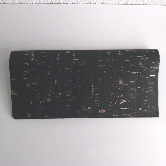 porte cartes liege noir doré