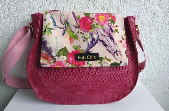 sac besace fuchsia buffle