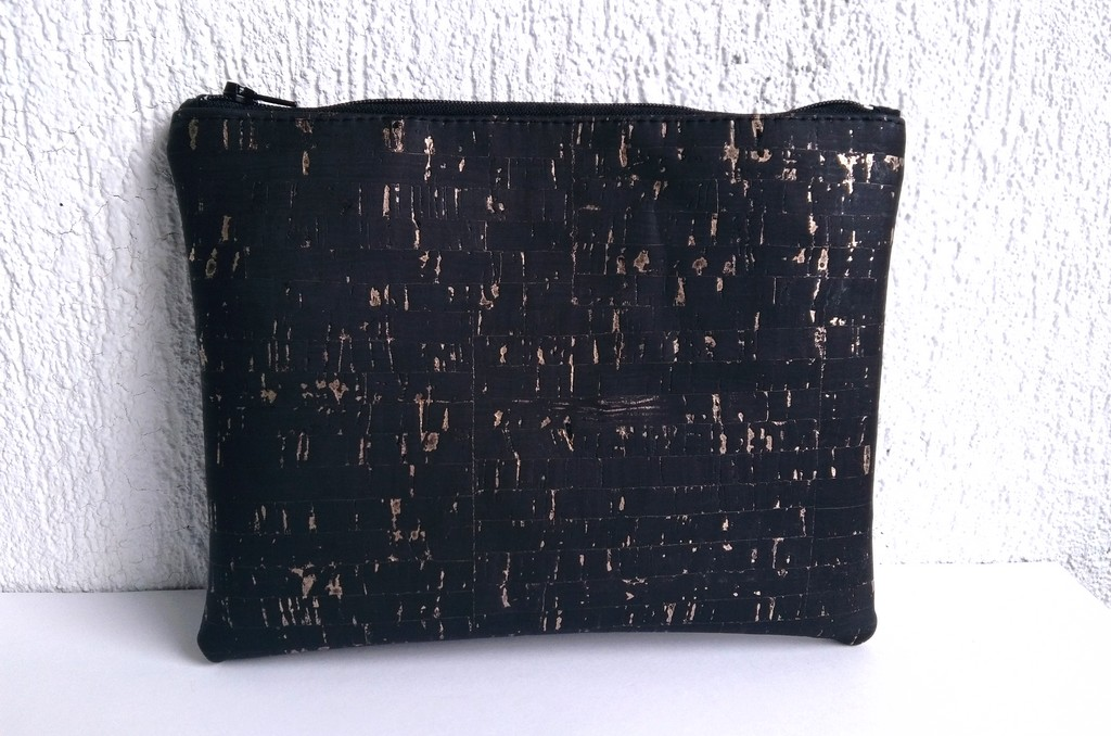 Trousse liège noir doré