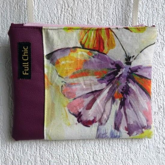 pochette prune papillon