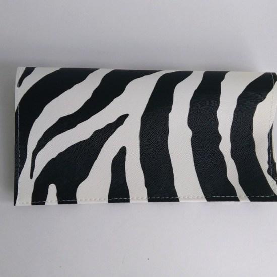 porte chequier zebre