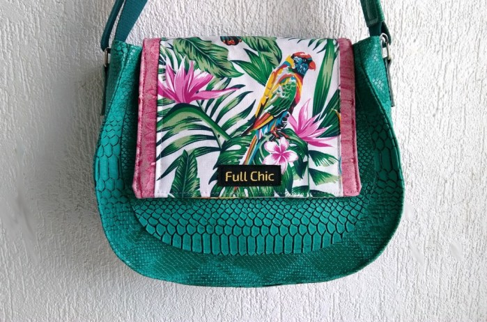 sac besace emeraude tropical