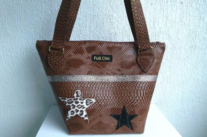 sac t marron étoiles