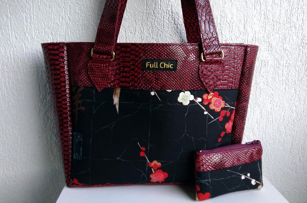 Duo bordeaux fleurs de cerisier