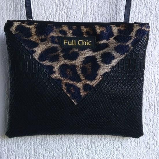 pochette noire leopard