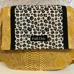 besace jaune leopard
