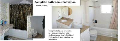 Complete bathroom reno