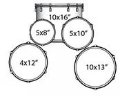 Ludwig Drums LJR106 5 Pc Junior Drum Kit with Hardware and