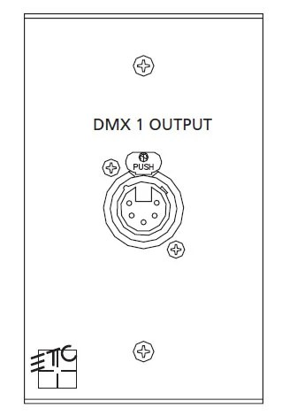ETC ECPB-DMXOUT One-Gang DMX Output Plug In Station Wall