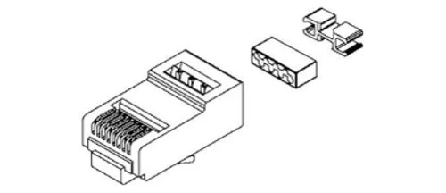 Belden CAPFCU B25 25 Pack of Field Crimped RJ45 Modular