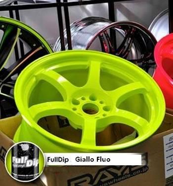 Pacco da 6 Full Dip GIALLO FLUO LUCIDO