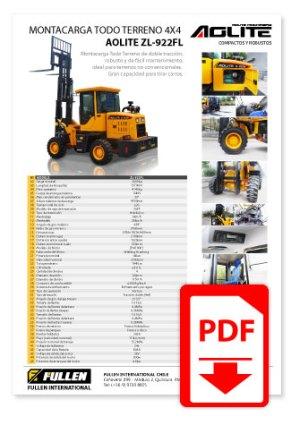 Catálogo Gruas Horquillas Todo Terreno 4x4 Aolite ZL-922FL