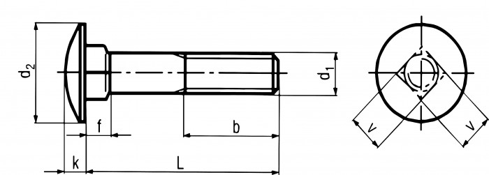 DIN 603 Carriage Bolt : Fuller Fasteners