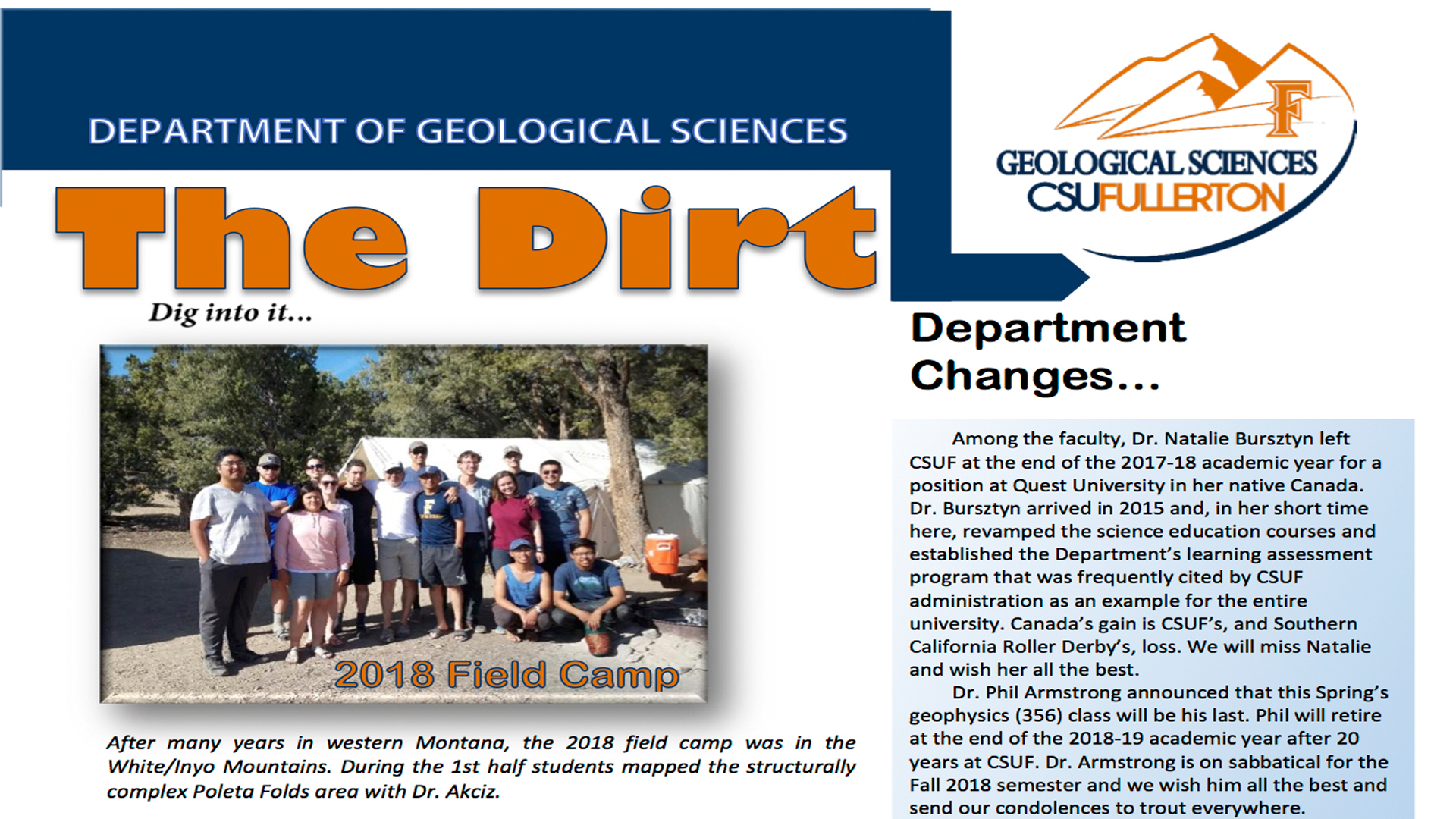 hight resolution of Home of Geological Sciences C.S.U.F. - Geological Sciences   CSUF