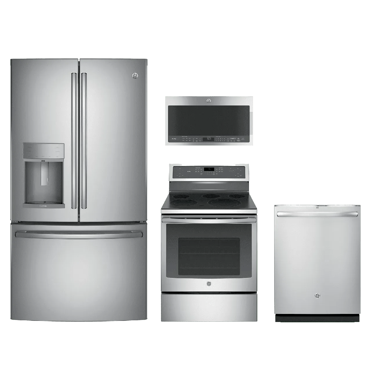 4 piece stainless steel kitchen package refurbished appliances appliance packages fullerton