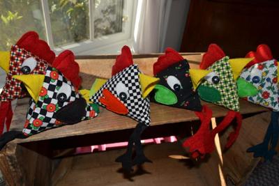 Some of Jane's Chicken Pincushions