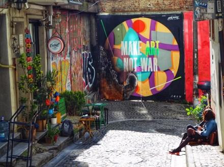 Street art in Istanbul.