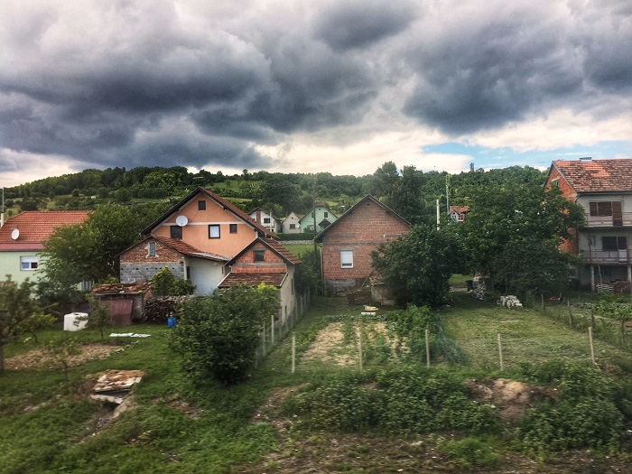 Slavonia through train windows