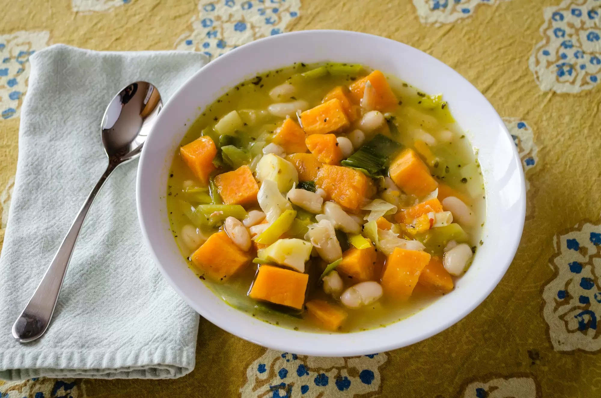 Sweet Potato, Leek, Parsnip And Bean Soup – A Vegan Winter Comfort Food
