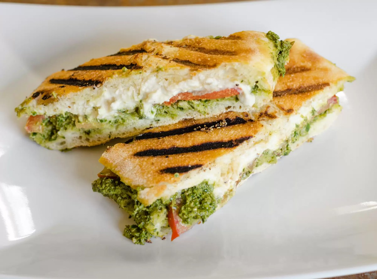 Elevating Lunch: The Vegan Pesto Panini Sandwich
