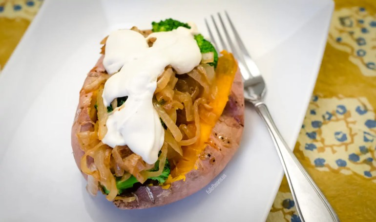 Delicious Stuffed Sweet Potatoes