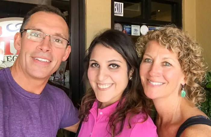 Greg, Nikki, and Georgia at Ethos Vegan Kitchen. Making virtual community into physical community
