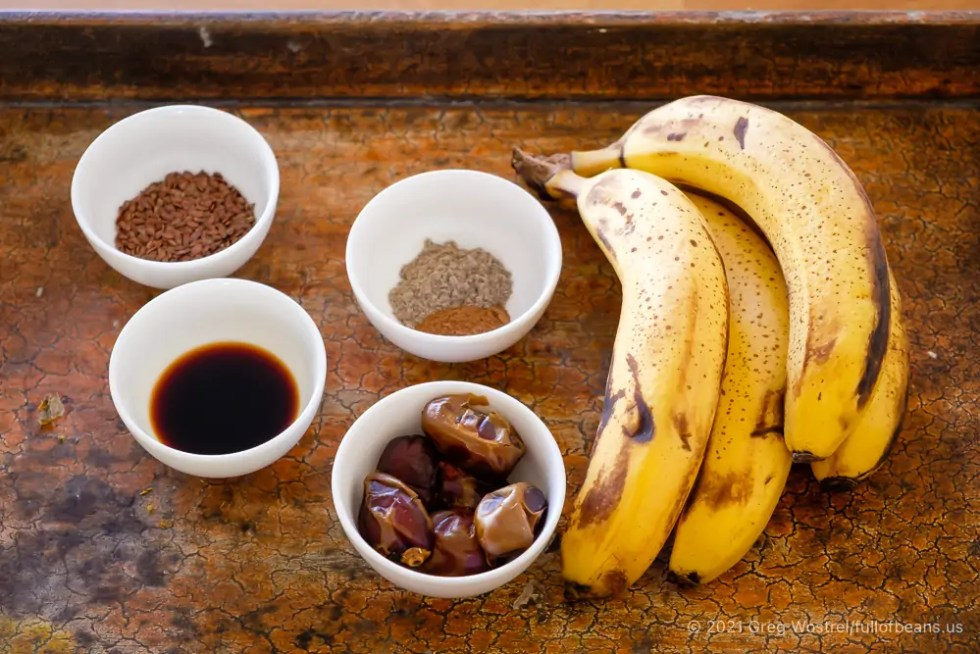 The simple ingredients for delicious banana cardamom waffles