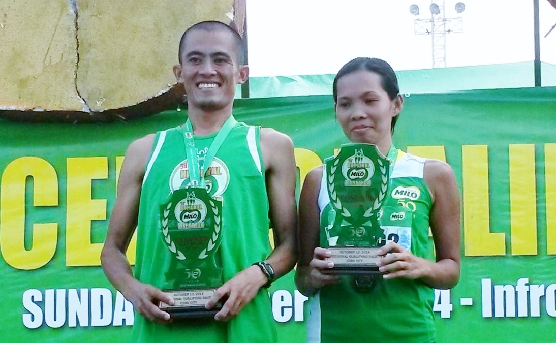 Reformed Addict Turned Champion Runner, Single Mother Grab 21K Titles of 38th National Milo Marathon Cebu Elims